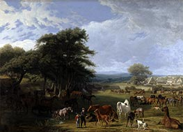Lord Rivers's Stud Farm, Stratfield Saye, 1807 by Jacques-Laurent Agasse   Giclée Canvas Print