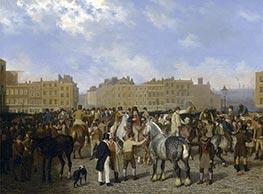Old Smithfield Market, London, 1824 by Jacques-Laurent Agasse   Giclée Canvas Print