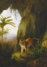 Tiger in a Cave, c.1814 by Jacques-Laurent Agasse   Giclée Canvas Print