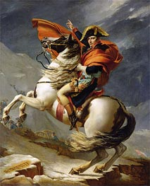 Jacques-Louis David | Napoleon Crossing the Alps on 20th May 1800 | Giclée Canvas Print