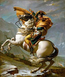 Napoleon Crossing the Alps at the St Bernard Pass, 20th May 1800, c.1800/01 by Jacques-Louis David | Giclée Canvas Print