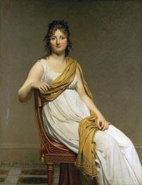 Jacques-Louis David | Henriette Verniac, nee Henriette Delacroix, soeur d'Eugene Delacroix | Giclée Canvas Print