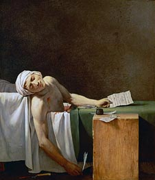 Jacques-Louis David | Assassination of Jean-Paul Marat in His Bath | Giclée Canvas Print