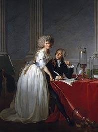 Jacques-Louis David | Antoine-Laurent Lavoisier and His Wife Marie-Anne-Pierrette Paulze | Giclée Canvas Print