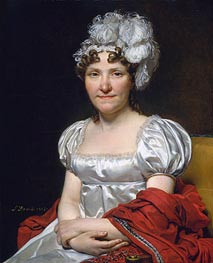 Jacques-Louis David   Madame David, 1813   Giclée Canvas Print