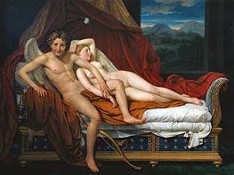 Jacques-Louis David   Cupid and Psyche, 1817   Giclée Canvas Print