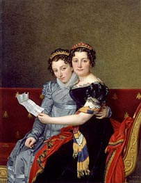 Jacques-Louis David | Portrait of the Sisters Zénaïde and Charlotte Bonaparte | Giclée Canvas Print