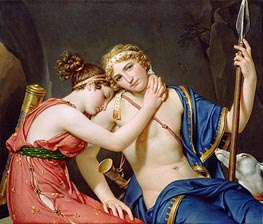 Jacques-Louis David | The Farewell of Telemachus and Eucharis | Giclée Canvas Print