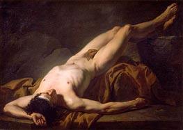 Jacques-Louis David   Hector (Academic Figure of a Man), undated   Giclée Canvas Print