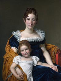 Jacques-Louis David   Portrait of the Comtesse Vilain XIIII and Her Daughter, 1816   Giclée Canvas Print