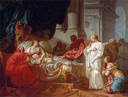 Jacques-Louis David   Antiochus and Stratonice, 1774   Giclée Canvas Print