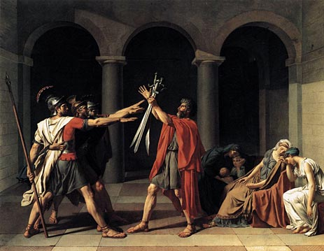 The Oath of the Horatii, 1784 | Jacques-Louis David | Painting Reproduction
