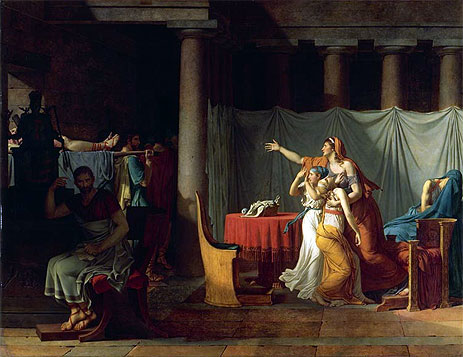 Lictors Bearing to Brutus the Bodies of his Sons, 1789 | Jacques-Louis David | Painting Reproduction