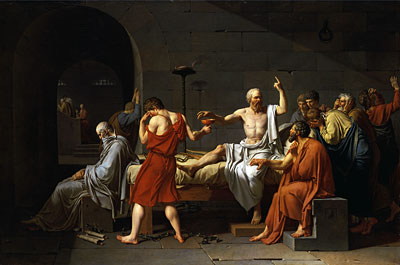 The Death of Socrates, 1787   Jacques-Louis David   Painting Reproduction