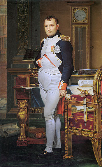 The Emperor Napoleon in His Study at the Tuileries, 1812 | Jacques-Louis David | Painting Reproduction