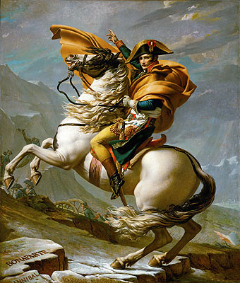 Napoleon Crossing the Alps at the St Bernard Pass, 20th May 1800, c.1800/01 | Jacques-Louis David | Painting Reproduction