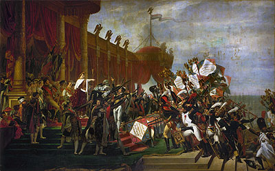 The Oath of the Army after the distribution of the Eagles on the Champs de Mars, December 5, 1804, 1810 | Jacques-Louis David | Painting Reproduction