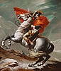 David - Napoleon Crossing the Saint Bernhard Pass - Art Print / Posters