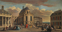 Jacques Rigaud | View of the Chapel of the Chateau de Versailles from the Courtyard, c.1725 | Giclée Canvas Print