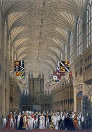 James Baker Pyne | Interior of St George's Chapel, 1838 | Giclée Paper Print