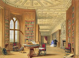 James Baker Pyne | The Library, Windsor Castle, 1838 | Giclée Paper Print