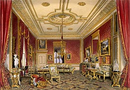 James Baker Pyne | The Queen's Private Sitting Room, Windsor Castle, 1838 | Giclée Paper Print
