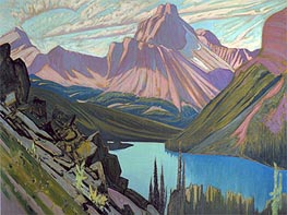 James Edward Hervey Macdonald | Lake O'Hara and Cathedral Mountain, Rockies, 1928 | Giclée Canvas Print