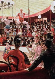 Joseph Tissot | Women of Paris - The Circus Lover (The Sporting Women), 1885 | Giclée Canvas Print