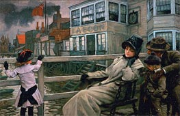 Joseph Tissot | Waiting for the Ferry, c.1878 | Giclée Canvas Print