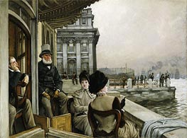 Joseph Tissot | The Terrace of the Trafalgar Tavern, Greenwich, c.1878 | Giclée Canvas Print