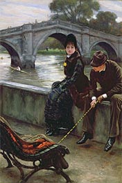 Joseph Tissot | Richmond Bridge, c.1878 | Giclée Canvas Print