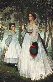 Joseph Tissot | The Two Sisters, 1863 | Giclée Canvas Print