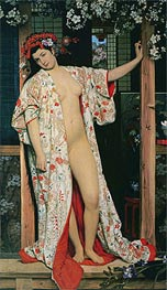 Joseph Tissot | Japanese Girl Bathing, 1864 | Giclée Canvas Print