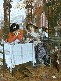 Joseph Tissot | A Luncheon, c.1868 | Giclée Canvas Print