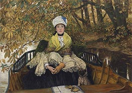 Joseph Tissot | Waiting, c.1873 | Giclée Canvas Print