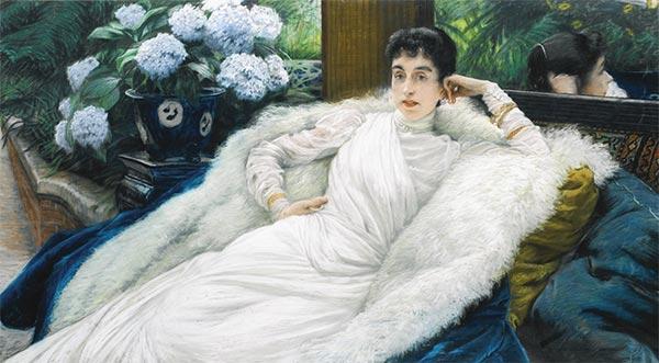 Portrait of Clotilde Briatte, Comtesse Pillet-Will, undated | Joseph Tissot | Painting Reproduction
