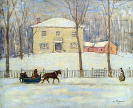 James Wilson Morrice | The Old Holton House, Montreal, c.1908/09 | Giclée Canvas Print