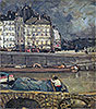 Morrice - The Left Arm of the Seine in Front of the Place Dauphine - Art Print / Posters