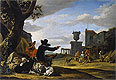 Weenix - Ruined Landscape with a Tavern - Art Print / Posters