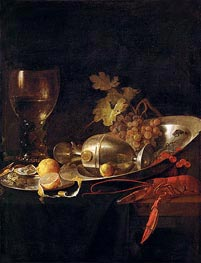Breakfast Still Life, c.1635 by de Heem | Giclée Canvas Print