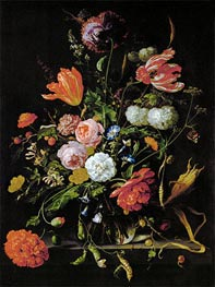 Still Life with Flowers, c.1650/60 by de Heem | Giclée Canvas Print
