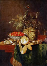 Still Life with Peeled Lemon, 1650 by de Heem | Giclée Canvas Print