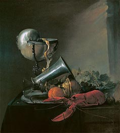 Still Life with Nautilus Cup and Lobster, 1634 by de Heem | Giclée Canvas Print