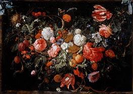 de Heem | Still Life with Garland of Fruit and Flowers, c.1669 | Giclée Canvas Print