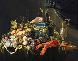 Still Life with Fruit and Lobster, c.1648/49 by de Heem | Giclée Canvas Print