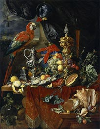 Still Life with Parrots, c.1646/49 by de Heem | Giclée Canvas Print