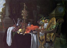 de Heem | Still Life: A Banqueting Scene, c.1640/41 | Giclée Canvas Print