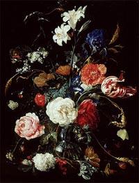 de Heem | A Vase of Flowers, c.1650/60 | Giclée Canvas Print