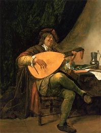 Jan Steen | Self-Portrait with Lute, c.1663/65 | Giclée Canvas Print