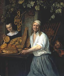 Jan Steen | Leiden Baker Arend Oostwaert and His Wife, c.1658 | Giclée Canvas Print